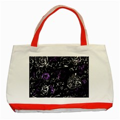 Abstract Mind   Purple Classic Tote Bag (red)