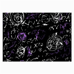 Abstract Mind   Purple Large Glasses Cloth by Valentinaart
