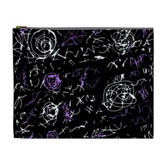 Abstract Mind   Purple Cosmetic Bag (xl) by Valentinaart