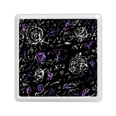 Abstract Mind   Purple Memory Card Reader (square)