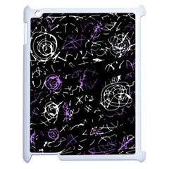 Abstract Mind   Purple Apple Ipad 2 Case (white) by Valentinaart