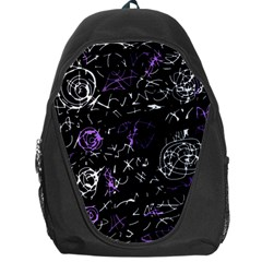 Abstract Mind   Purple Backpack Bag by Valentinaart