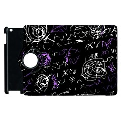 Abstract Mind   Purple Apple Ipad 2 Flip 360 Case by Valentinaart