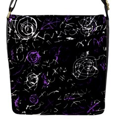 Abstract Mind   Purple Flap Messenger Bag (s) by Valentinaart