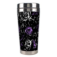 Abstract Mind   Purple Stainless Steel Travel Tumblers by Valentinaart