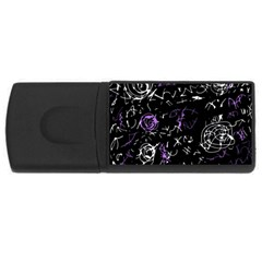 Abstract Mind   Purple Usb Flash Drive Rectangular (4 Gb)  by Valentinaart