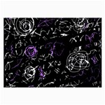 Abstract mind - purple Large Glasses Cloth (2-Side) Back