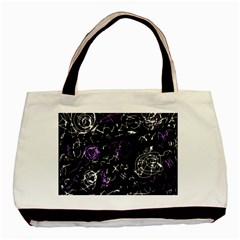 Abstract Mind   Purple Basic Tote Bag (two Sides)