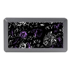 Abstract Mind   Purple Memory Card Reader (mini) by Valentinaart