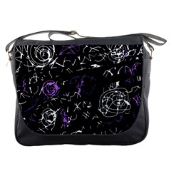 Abstract Mind   Purple Messenger Bags by Valentinaart