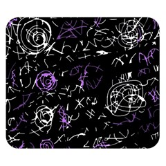Abstract Mind   Purple Double Sided Flano Blanket (small)