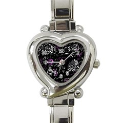 Abstract Mind   Magenta Heart Italian Charm Watch by Valentinaart