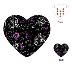 Abstract Mind   Magenta Playing Cards (heart)