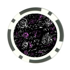 Abstract Mind   Magenta Poker Chip Card Guards by Valentinaart