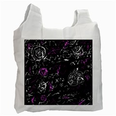 Abstract Mind   Magenta Recycle Bag (two Side)  by Valentinaart