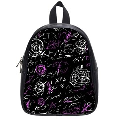 Abstract Mind   Magenta School Bags (small)  by Valentinaart