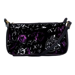 Abstract Mind   Magenta Shoulder Clutch Bags by Valentinaart