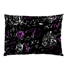 Abstract Mind   Magenta Pillow Case (two Sides)