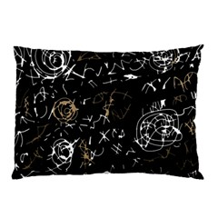 Abstract Mind   Brown Pillow Case (two Sides)