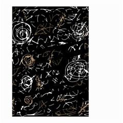 Abstract Mind   Brown Small Garden Flag (two Sides)