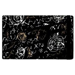 Abstract Mind   Brown Apple Ipad 2 Flip Case by Valentinaart