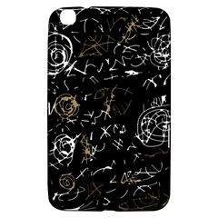 Abstract Mind   Brown Samsung Galaxy Tab 3 (8 ) T3100 Hardshell Case  by Valentinaart