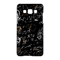 Abstract Mind   Brown Samsung Galaxy A5 Hardshell Case  by Valentinaart
