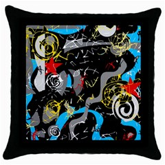 Confusion 2 Throw Pillow Case (black)
