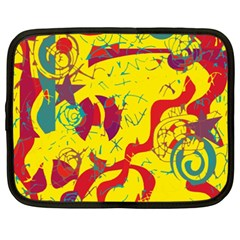 Yellow Confusion Netbook Case (xxl)  by Valentinaart