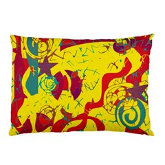 Yellow Confusion Pillow Case (two Sides) by Valentinaart