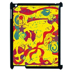 Yellow Confusion Apple Ipad 2 Case (black)