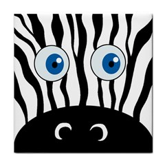 Blue Eye Zebra Tile Coasters by Valentinaart