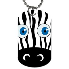 Blue Eye Zebra Dog Tag (two Sides) by Valentinaart