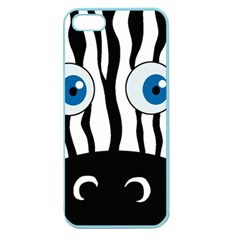 Blue Eye Zebra Apple Seamless Iphone 5 Case (color) by Valentinaart
