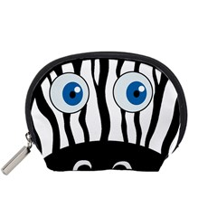 Blue Eye Zebra Accessory Pouches (small)  by Valentinaart