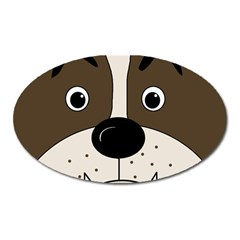 Bulldog Face Oval Magnet by Valentinaart