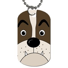 Bulldog Face Dog Tag (one Side) by Valentinaart