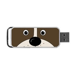 Bulldog Face Portable Usb Flash (two Sides) by Valentinaart