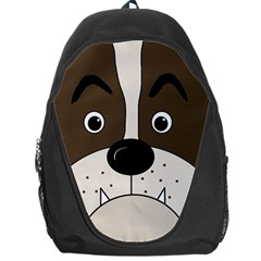 Bulldog Face Backpack Bag by Valentinaart