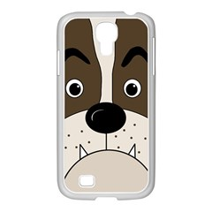 Bulldog Face Samsung Galaxy S4 I9500/ I9505 Case (white) by Valentinaart