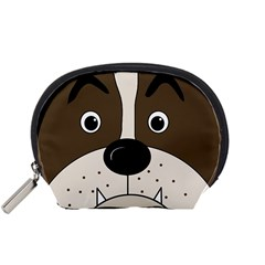 Bulldog Face Accessory Pouches (small)  by Valentinaart