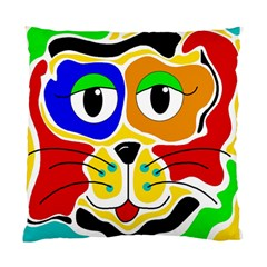 Colorful Cat Standard Cushion Case (one Side) by Valentinaart