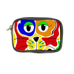Colorful Cat Coin Purse by Valentinaart