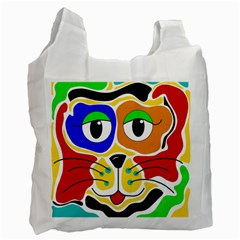 Colorful Cat Recycle Bag (one Side) by Valentinaart