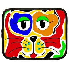 Colorful Cat Netbook Case (xxl)  by Valentinaart