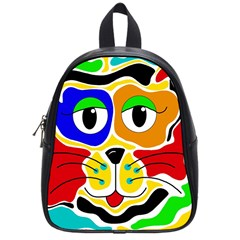 Colorful Cat School Bags (small)  by Valentinaart