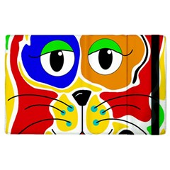 Colorful Cat Apple Ipad 2 Flip Case by Valentinaart