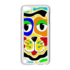 Colorful Cat Apple Ipod Touch 5 Case (white) by Valentinaart
