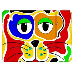 Colorful Cat Samsung Galaxy Tab 7  P1000 Flip Case by Valentinaart