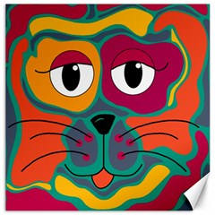 Colorful Cat 2  Canvas 16  X 16   by Valentinaart